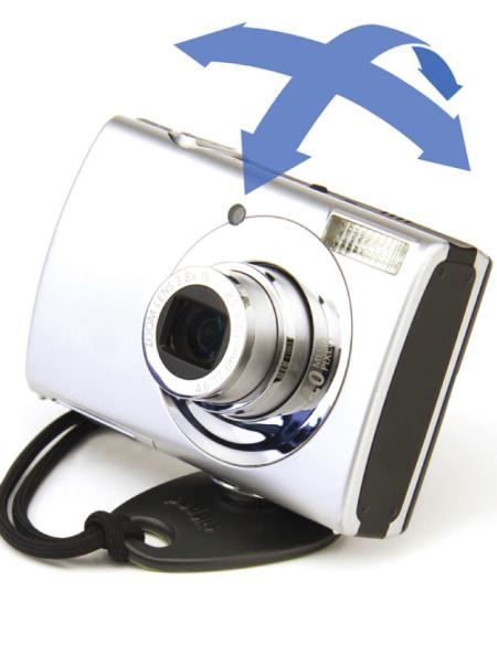<b>カメラは自由雲台に載せたように可動するという</b>
