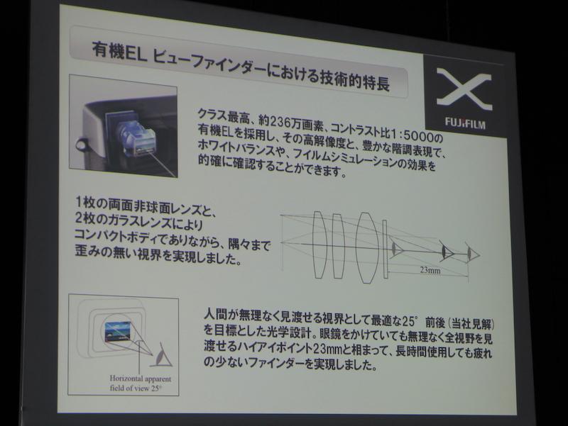 <b>EVFは見やすさを重視した設計とした</b>