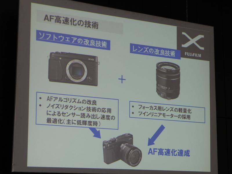 <b>AF高速化はソフトウェア面とレンズの改良の結果だとする</b>