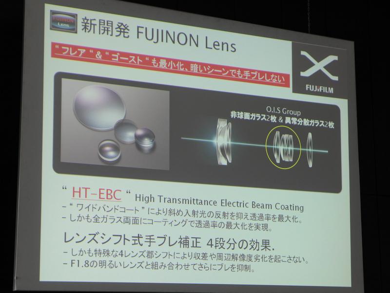<b>新コーティング「HT-EBC」を前玉のフロント側を含めレンズの全面に施した。斜め入射光の反射も抑えるという</b>