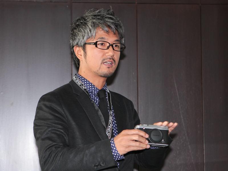 <b>富士フイルム デザインセンサーの今井雅純氏</b>