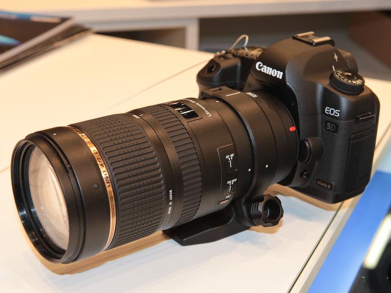 <b>SP 70-200mm F2.8 Di VC USDをEOS 5D Mark IIに装着したところ</b>