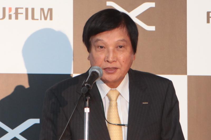 <b>富士フイルム常務取締役 電子映像事業部長の樋口武氏</b>