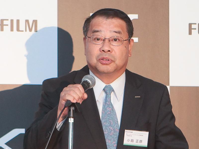 <b>富士フイルムイメージングシステムズ代表取締役社長の小島正彦氏</b>