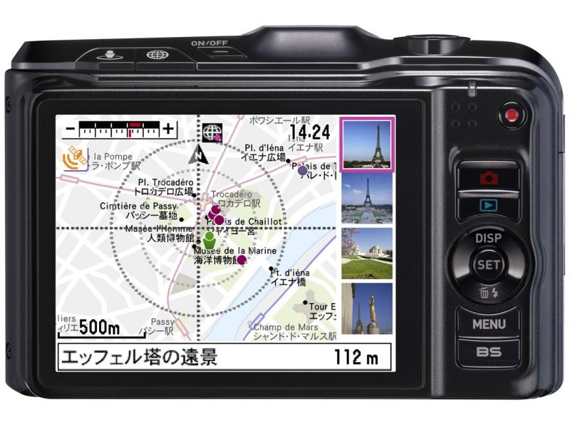 <b>GPSとモーションセンサーを組み合わせたハイブリッドGPS機能を搭載。当時の他社のGPS機能搭載デジカメでは得られない、良好な使い勝手が評価されたが…</b>