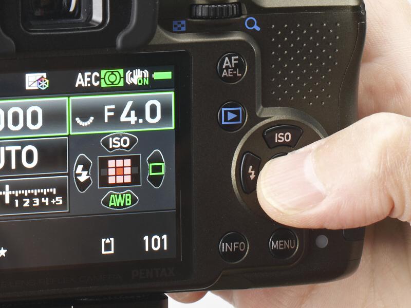 <b>OKボタン長押しで一時的に十字キーの機能が通常に復帰する。もう一度OKボタンを押せば、また測距点移動にもどる。</b>