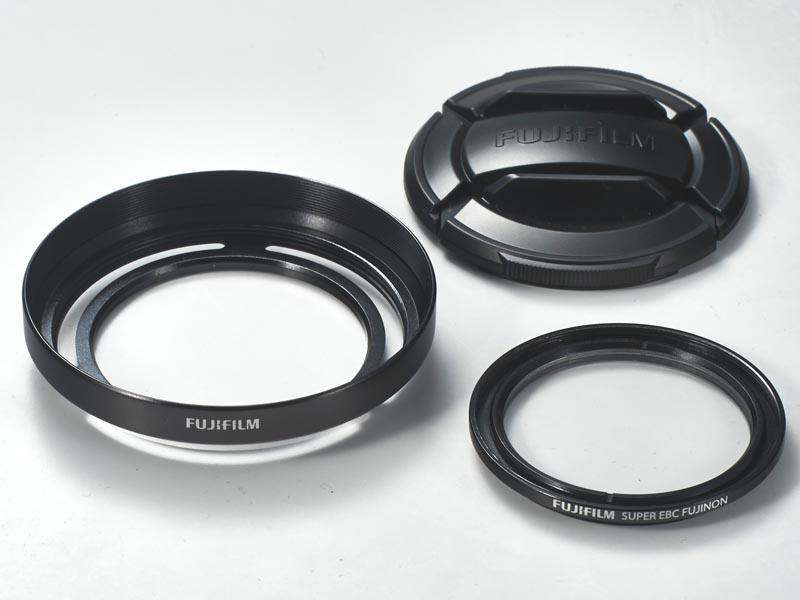 レンズフード付きプロテクトフィルター「LHF-X20」(ブラックシルバー)