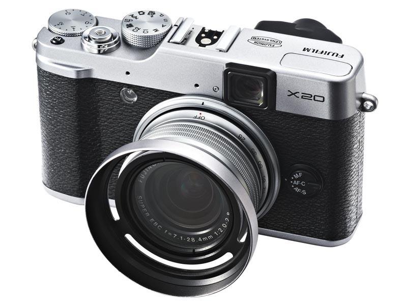 レンズフード付きプロテクトフィルター「LHF-X20」(シルバー)