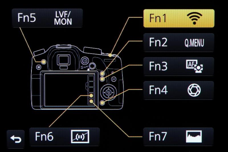 ファンクションボタンは全部で7つ搭載。この画面はそれぞれに機能を割り当てるためのもの。上手に活用して自分だけのDMC-GH3に仕立て上げたい。