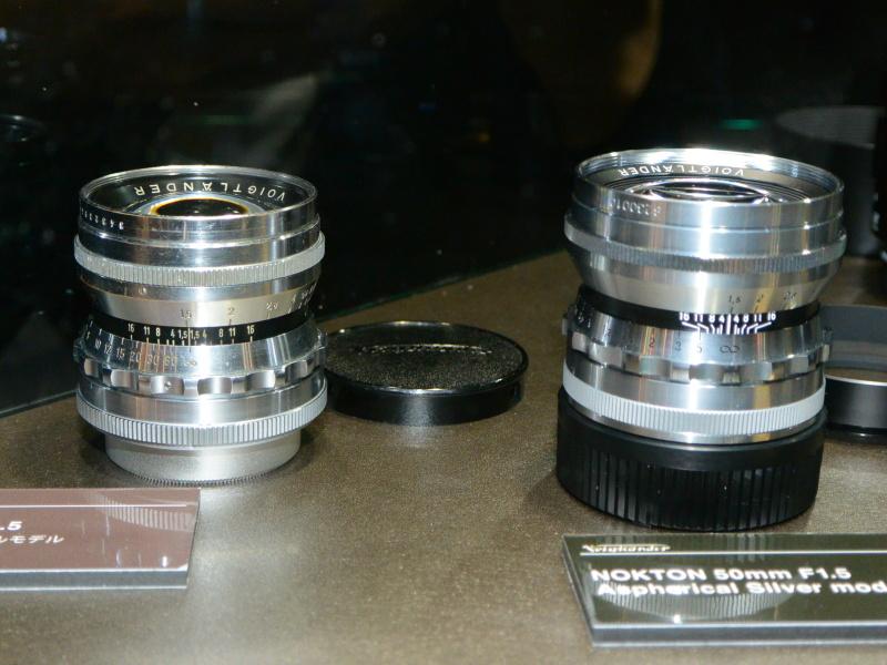 1950年代のLマウントレンズNOKTON 50mm F1.5(左)のデザインと、1999年発売製品の光学系を融合したVM版のNOKTON 50mm F1.5 Aspherical(右)