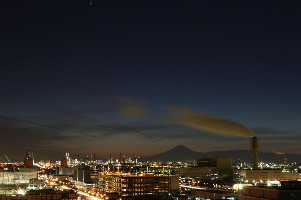 西側の空(日没から約50分)