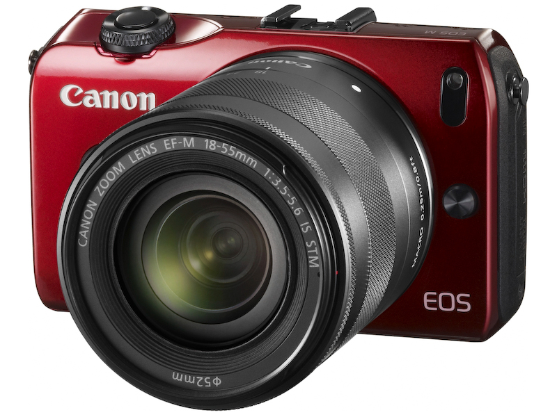 EOS M・EF-M18-55 IS STMレンズキット(レッド)