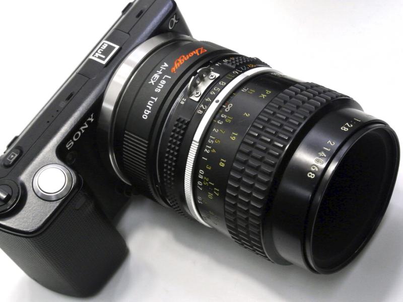 NF-NEX Lens Turboの装着例