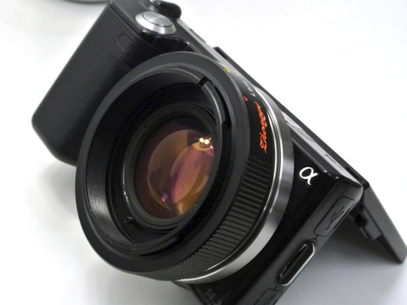 FD-NEX Lens Turboの装着例