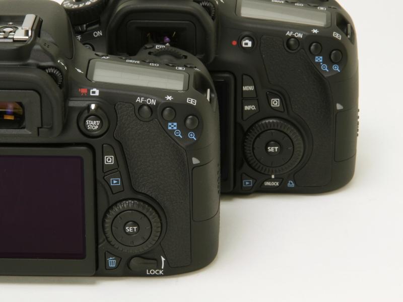 どちらの写真も左がEOS 70D、右がEOS 60D