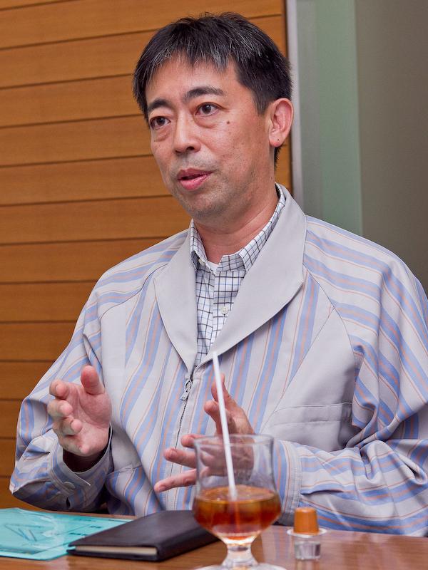 宮成洋氏。デュアルピクセルCMOS AFの要素技術開発のリーダー。