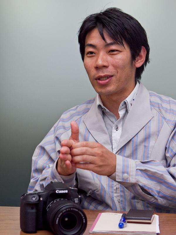 矢野慎一郎氏。デュアルピクセルCMOS AFのファームウェア設計を担当。