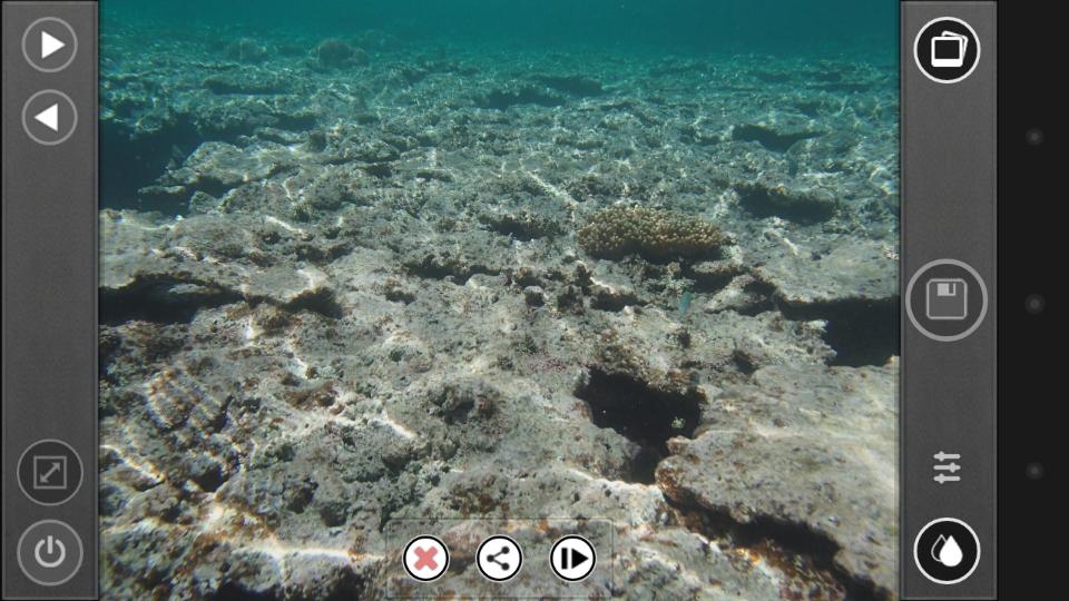 「カメラ」(撮影)アイコンから「保存」アイコンなど、一部アイコンが変更されるが、基本的な構造は変わりない