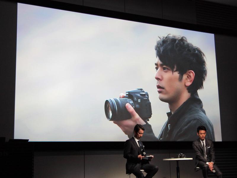EOS 70D発表会で公開されたCMのメイキング映像