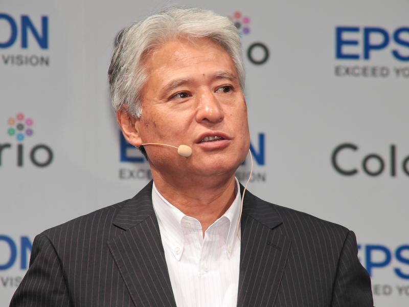 エプソン販売 代表取締役社長の平野精一氏