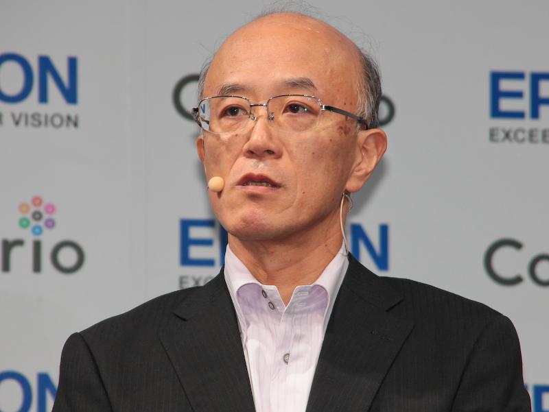 セイコーエプソン取締役プリンター事業部長の久保田孝一氏