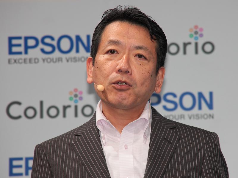 エプソン販売 取締役販売促進本部長の中野修義氏