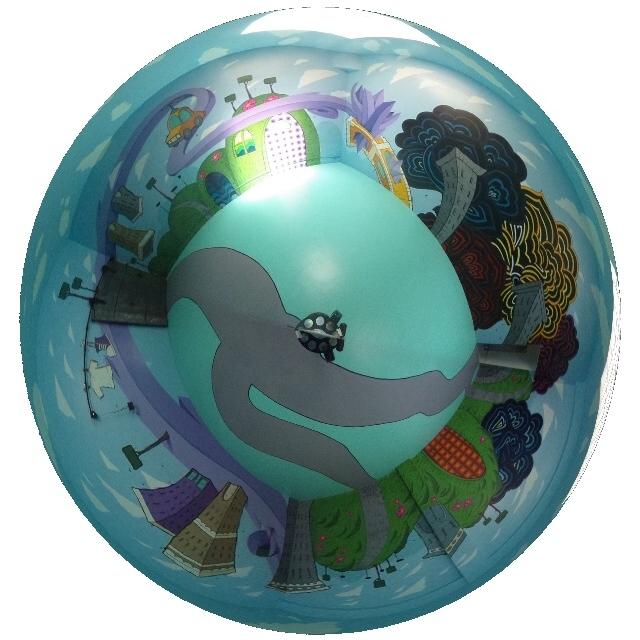 全天球画像の例