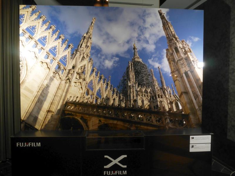 3畳のサイズというプリントを展示。アートディレクターの高橋俊充氏がX-E2とXF 23mm F1.4 Rで撮影したもの