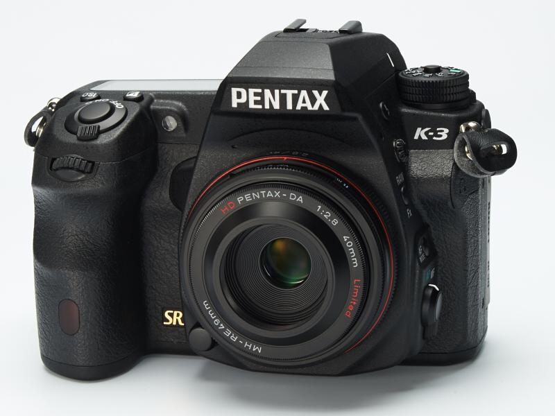 HD DA 40mm F2.8 Limitedを装着したPENTAX K-3。