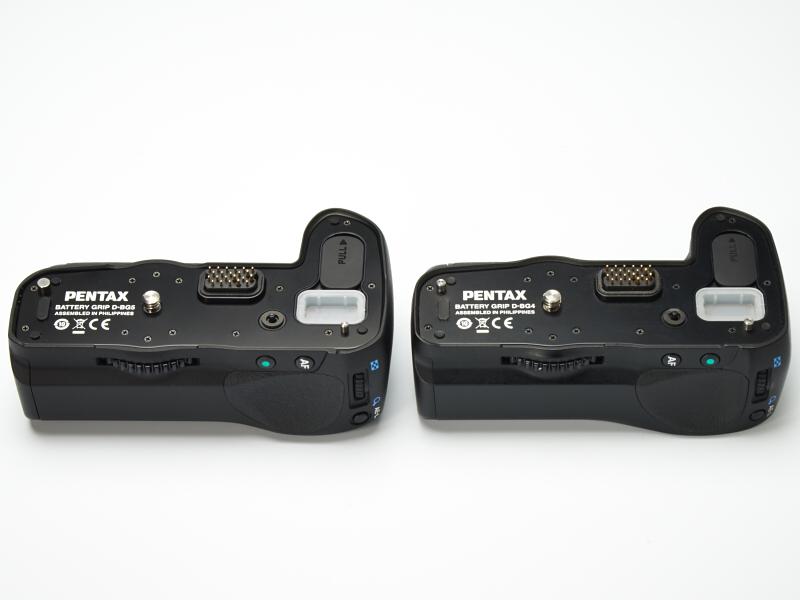 左がK-3用のD-BG5で、右がK-7/K-5用のD-BG4。