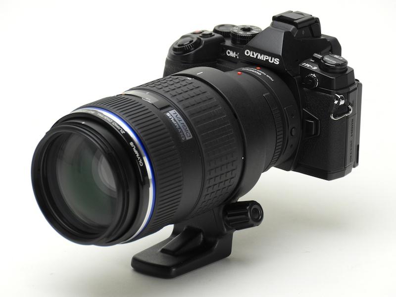 フォーサーズ用レンズとの組み合わせ例。レンズはZUIKO DIGITAL ED 50-200mm F2.8-3.5 SWD