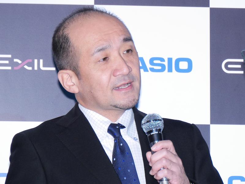 カシオ計算機 QV事業部 開発部長の松原直也氏。