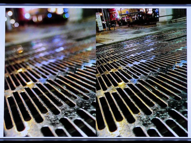 プレミアムブラケティングの「フォーカス×絞り」の撮影例。このように被写界深度の異なる写真が撮れるという。