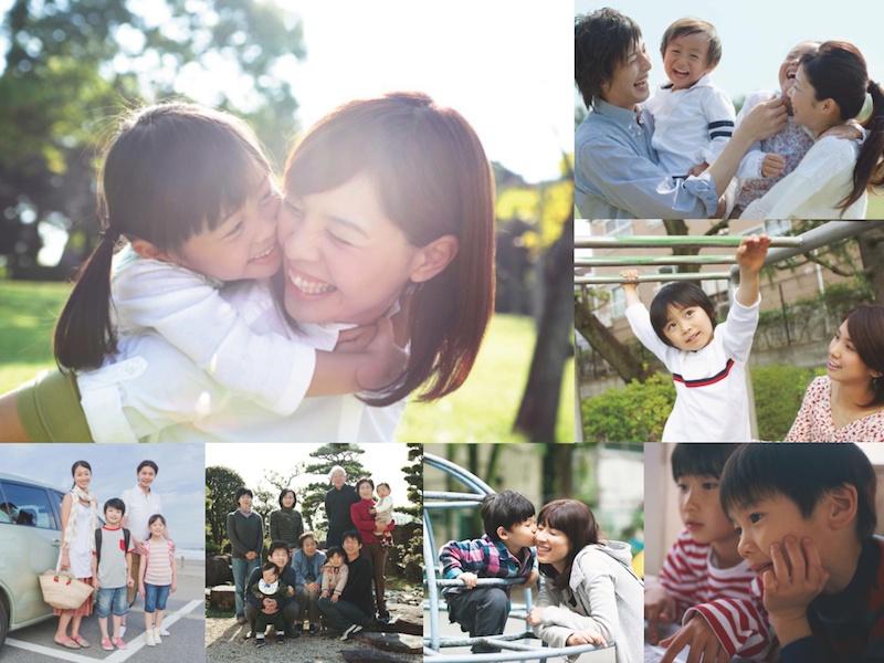 例)家族:みんな笑顔で楽しそうな様子