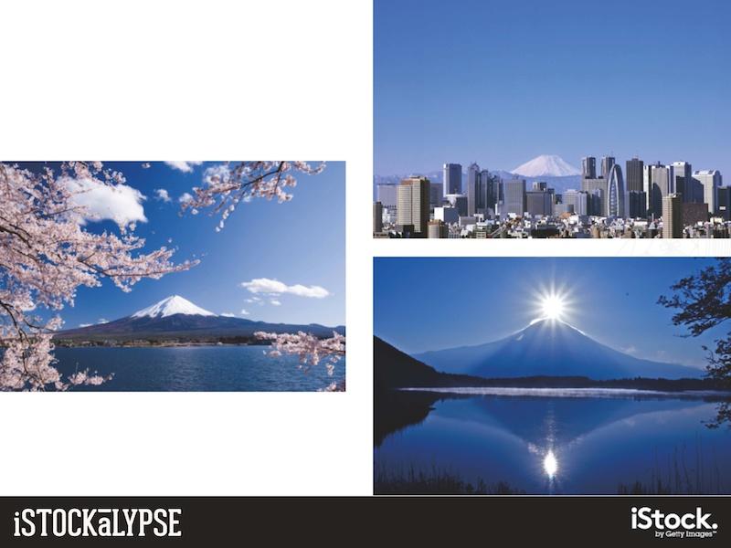 例)富士山、桜、新名所:日本らしさを連想させる絵柄