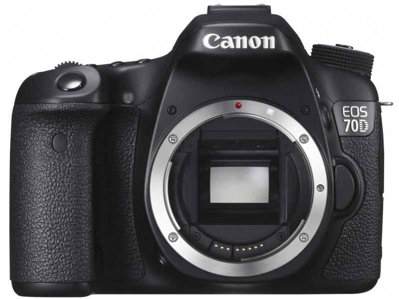 EOSシリーズの1つ「EOS 70D」(2013年8月発売)。EOSシリーズで初めて「デュアルピクセルCMOS AF」を採用したデジタル一眼レフカメラ。