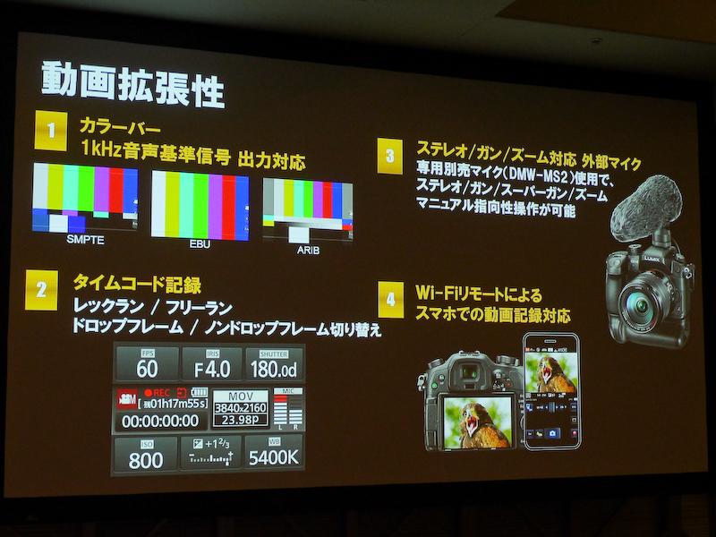 業務向けの動画機能も備える。