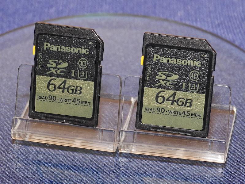 UHSスピードクラス3に対応したSDXCメモリーカードも発売する。4Kなどの記録ではこの規格のカードを使用する必要がある。