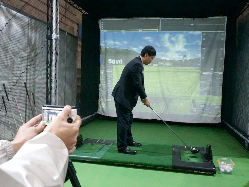 ゴルフのスイングを分析してもらえる