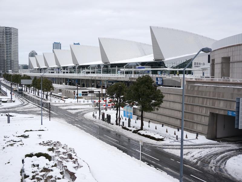 パシフィコ横浜展示ホールを望む