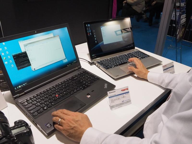 UHS-II対応のSDカードスロットを持つノートPCの速度比較も可能