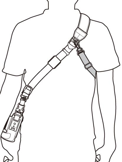 ストラップの胸部と背部に取り付けて装着感を高められるとする