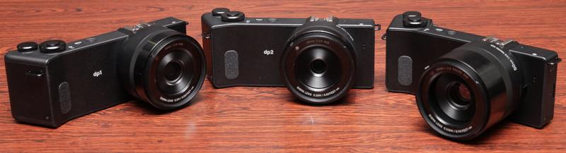 左からdp1 Quattro、dp2 Quattro、dp3 Quattroの試作機(以下同)。いずれも発売時期は未定