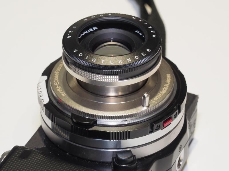 VM-E Close Focus Adapterを介した装着例