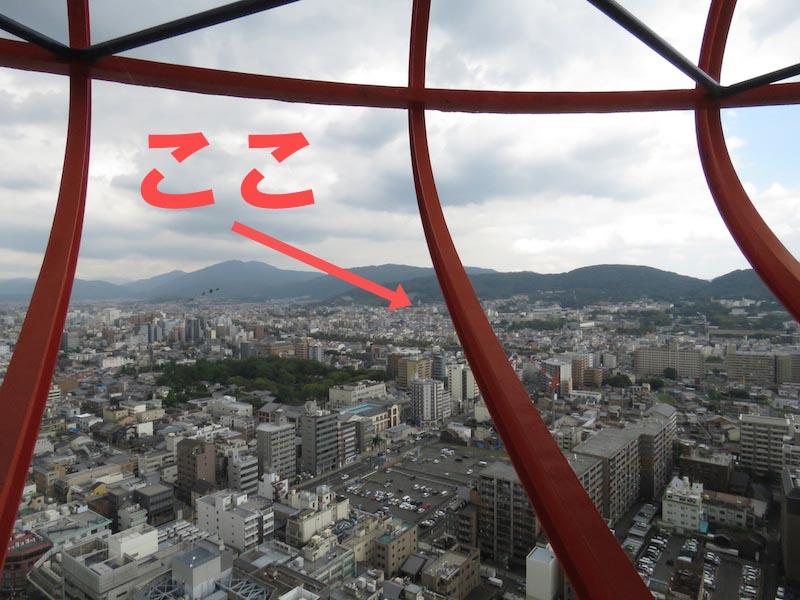 21mm相当(広角端):この状態だと、どこにあるのか全くわからない(笑)