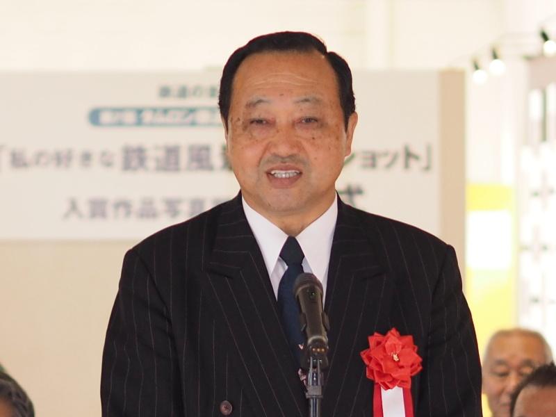 タムロン代表取締役社長の小野守男氏