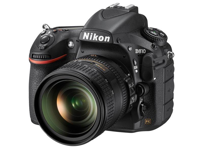同社最新のデジタル一眼レフカメラ「D810」。有効3,635万画素の35mmフルサイズセンサーを搭載