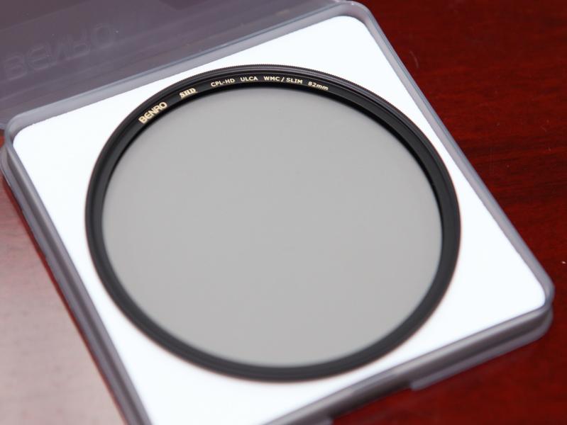 日本製の偏光膜を使ったサーキュラーPLフィルター。写真は最上位グレードのSHDシリーズでULCAコーティングも採用