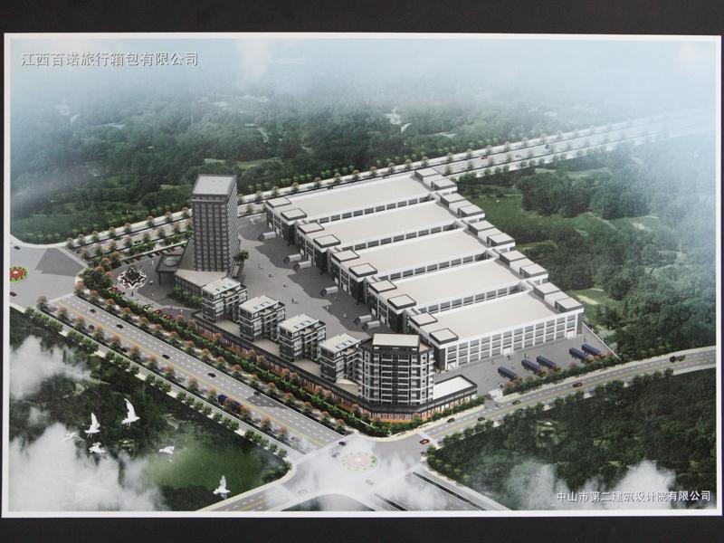 """江西省に新築する工場の完成予想図。""""カメラ用品の生産""""でこのように大きな工場を建てることに驚く"""
