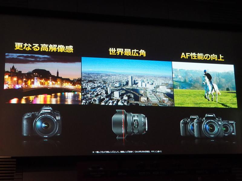 撮影領域の拡大を支える、新製品の3要素
